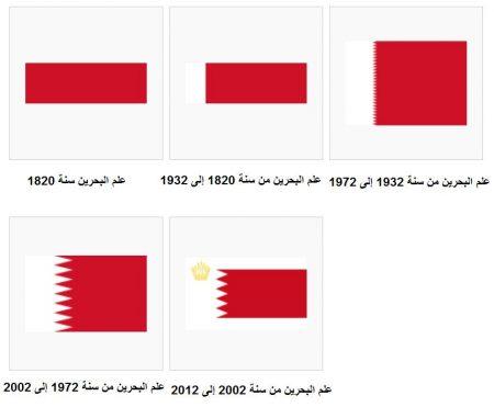 اشكال والوان صور علم البحرين (3)