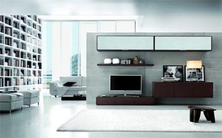 ترابيزة تليفزيون LCD مودرن وكلاسيك بديكورات تلفاز فخمة (2)