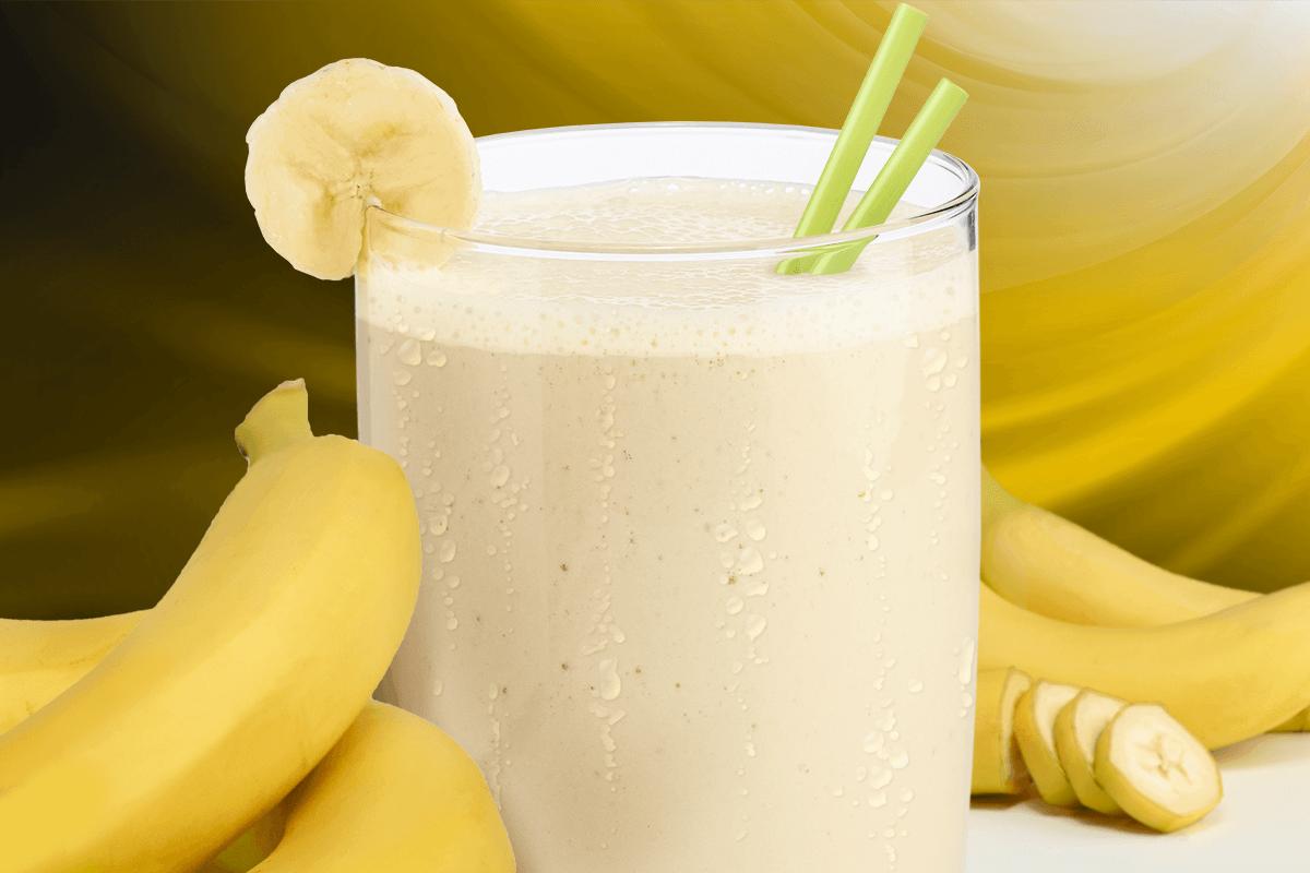 فوائد عصير الموز باللبن