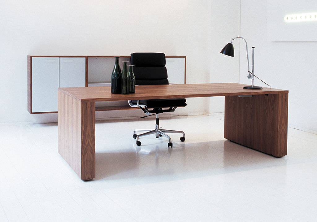 gorgeous wooden table design for office 8