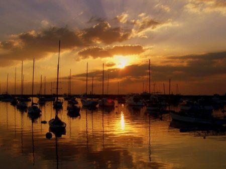 صور غروب الشمس علي البحار (2)