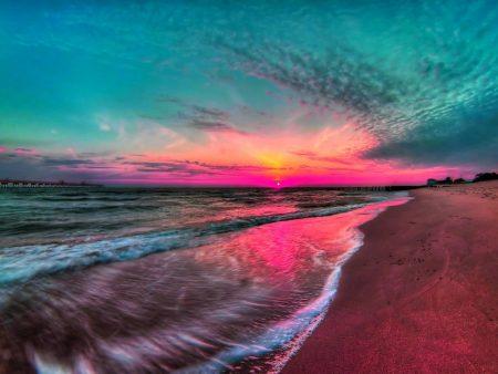 مناظر غروب الشمس علي البحار (1)