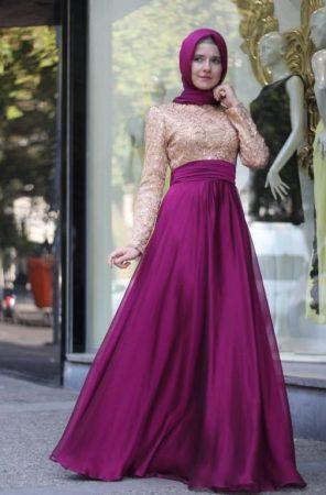 احدث الوان فساتين سهرة وفساتين سواريه محجبات (1)