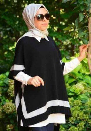 الوان واشكال احدث استايلات لبس تركي محجبات (3)