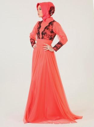 فساتين بنات محجبات 2017 تصميمات فستان للمحجبات (1)