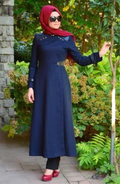 فساتين بنات محجبات 2017 تصميمات فستان للمحجبات (2)