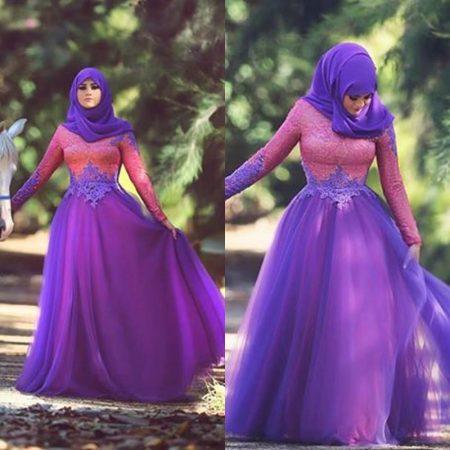 فساتين بنات محجبات 2017 تصميمات فستان للمحجبات (4)