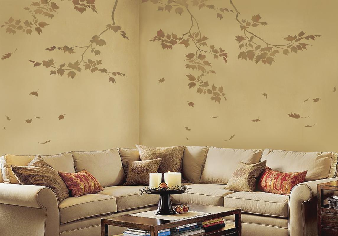 Pinterest Wall Painting Ideas: استنسل حوائط احدث اشكال رسومات استنسل جدران
