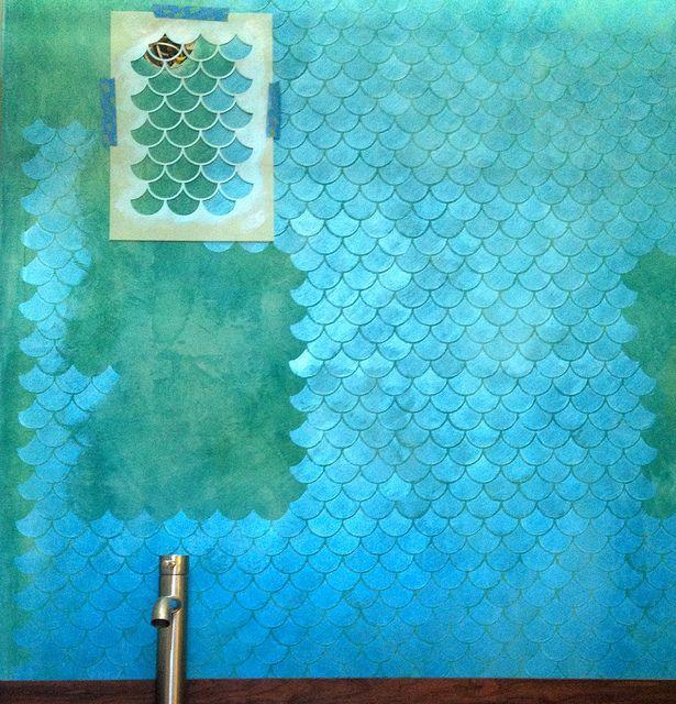 اشكال رسومات استنسل جدران (1)