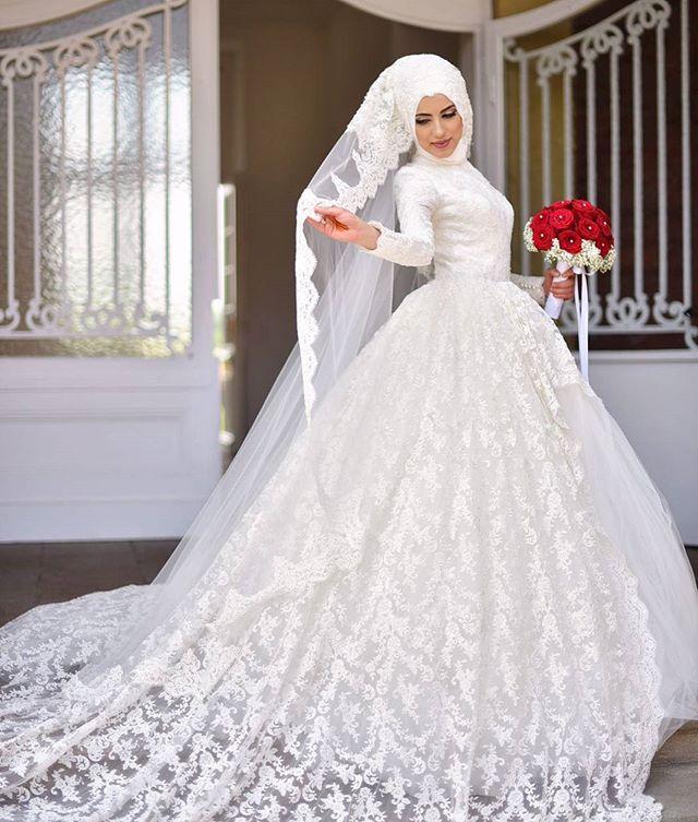 3806a3325 فساتين زفاف محجبات 2018 فساتين فرح محجبات | ميكساتك