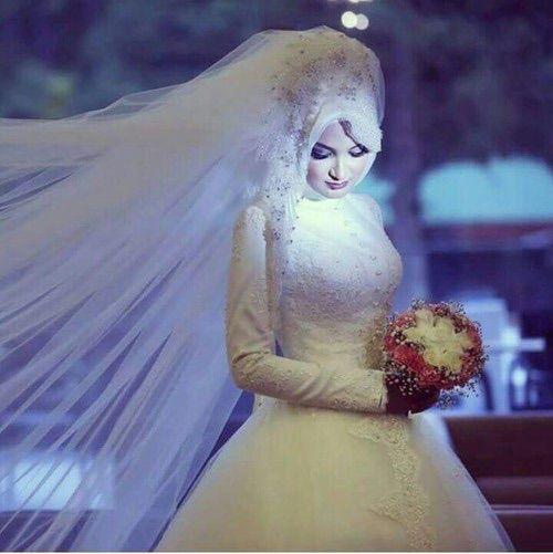 فساتين زفاف محجبات 2018 فساتين فرح محجبات (1)