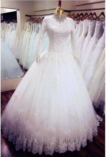 فساتين زفاف محجبات 2018 فساتين فرح محجبات (3)