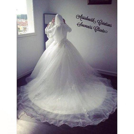 كتالوج فساتين زفاف محجبات 2018 (2)