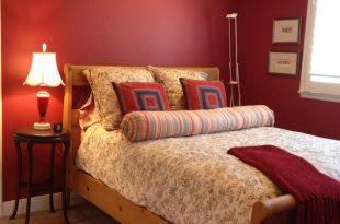 احدث دهانات غرف نوم حمراء (1)
