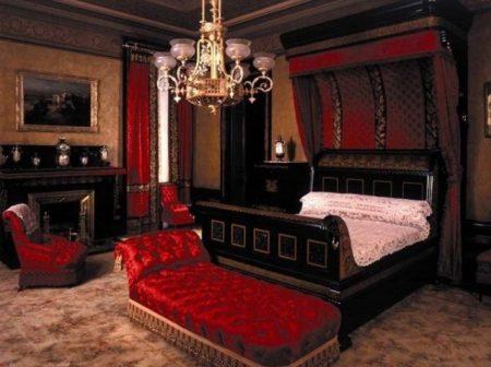 دهانات غرف النوم الحمراء (2)