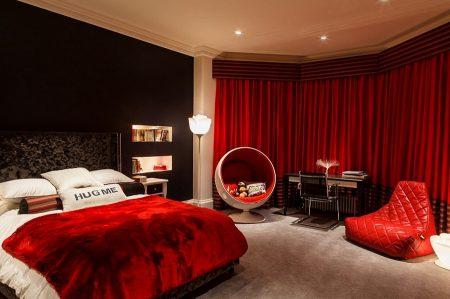 صور غرف نوم حمراء ديكورات غرف نوم باللون الأحمر (3)
