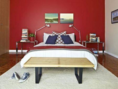 غرف نوم باللون الاحمر (1)
