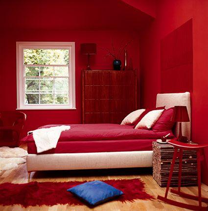 غرف نوم باللون الاحمر (2)