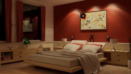 غرف نوم حمراء (1)