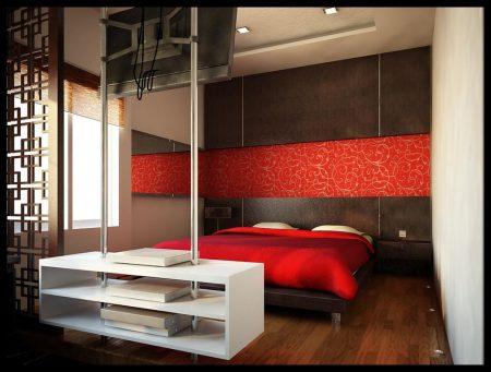 غرف نوم حمراء (3)