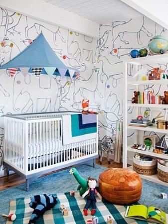 غرف نوم اطفال 2019 تصميمات غرف اطفال عصرية (1)
