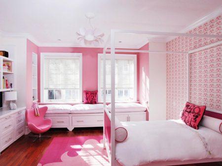 غرف نوم وردي (2)