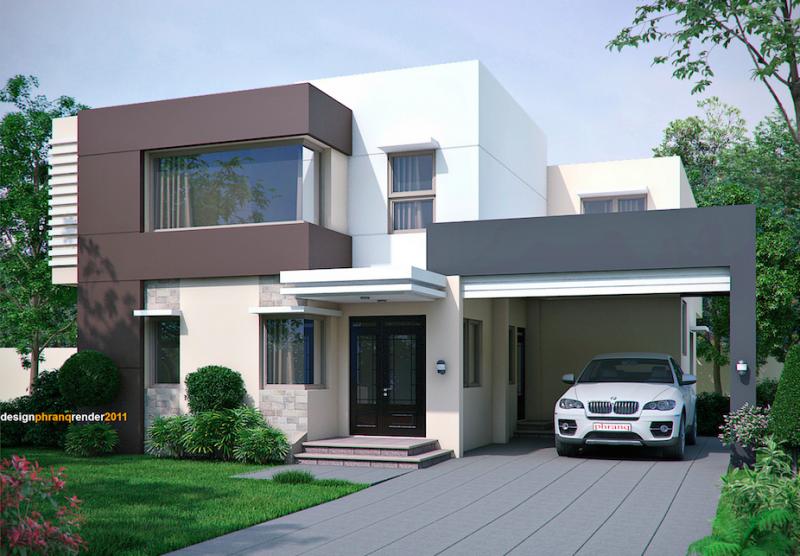 تصميمات منازل فلل 2020 1