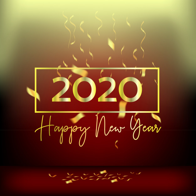 رمزية تهنئة عام 2020