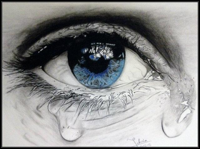دموع عيون حزينة 2