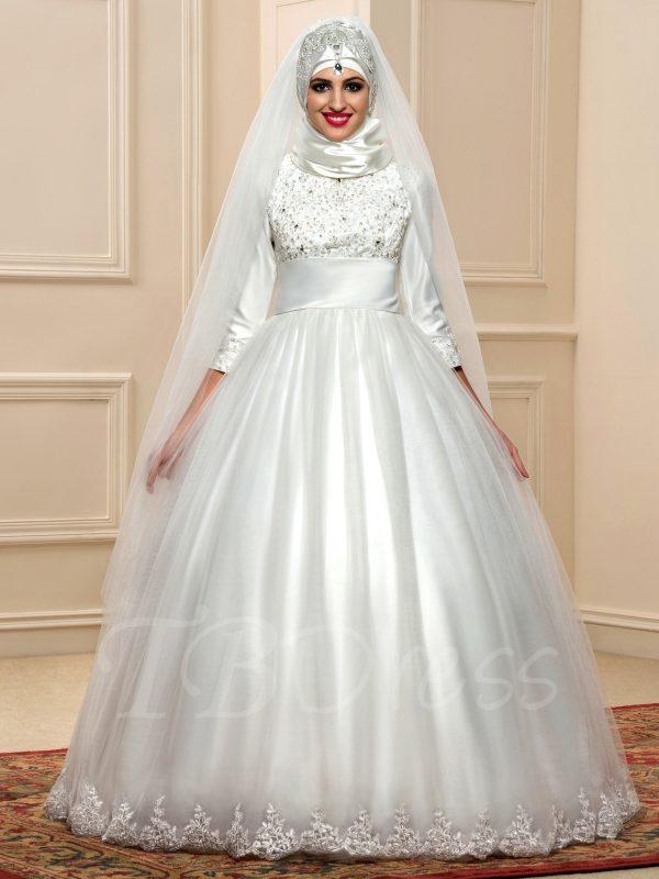 احدث فساتين زفاف محجبات 2
