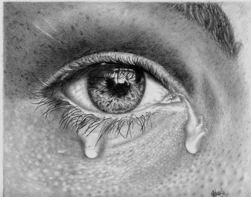 عيون حزينة