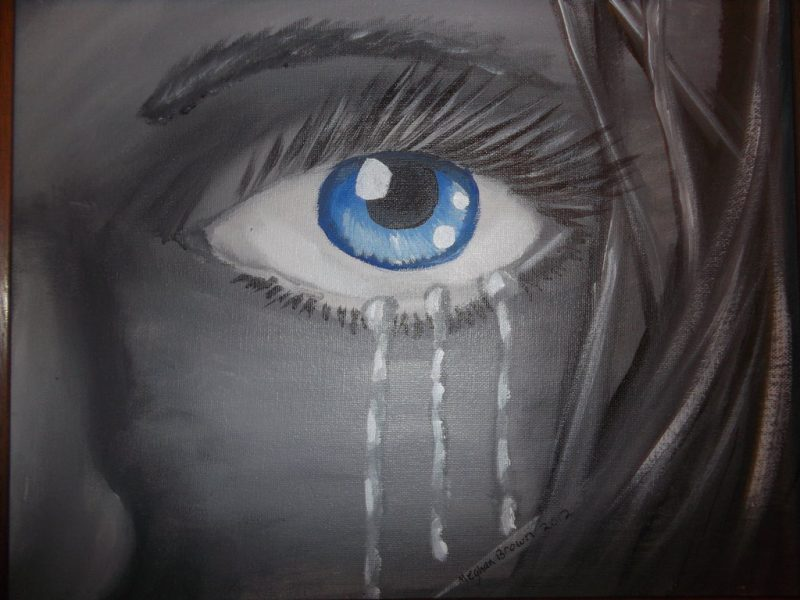 العيون الحزينه
