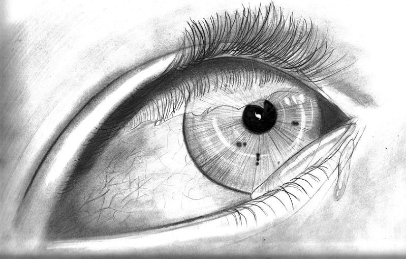 دموع عيون حزينة جدا 1