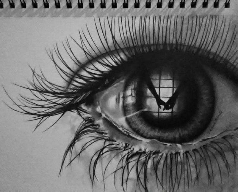 دموع عيون حزينة جدا 2