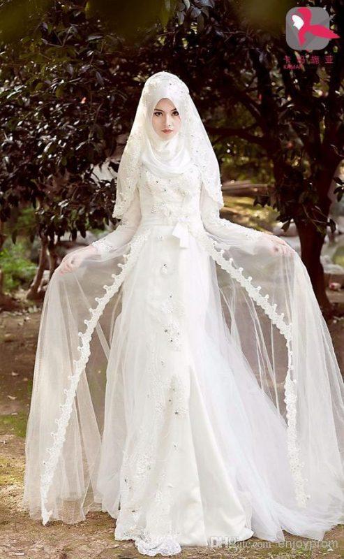 فساتين زفاف محجبات 2021 1