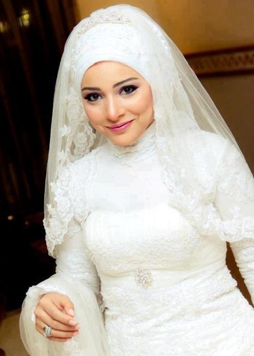 فساتين زفاف محجبات 2021 2