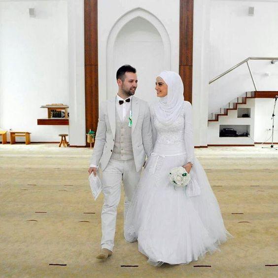 فساتين زفاف محجبات 2021 3