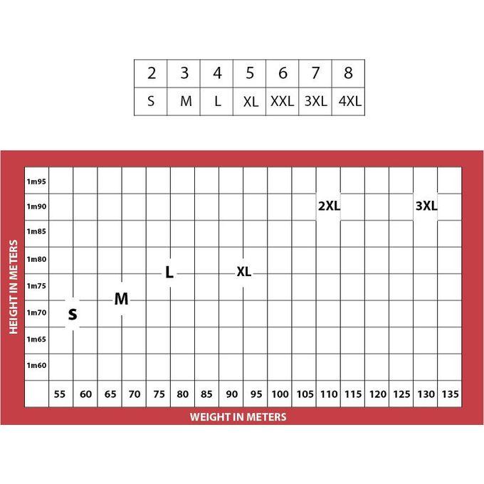 جدول مقاسات قطونيل